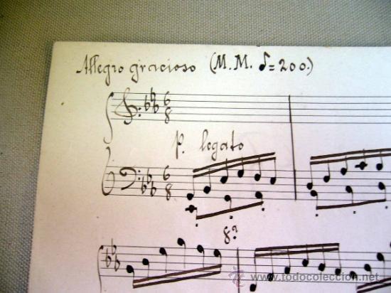 Partituras musicales: PARTITURA MANUSCRITO, AL PIE DE LA REJA, LUIS MARIANI, OP 33, CON ARREGLOS DE CARRILLO, 1898 - Foto 4 - 31240012