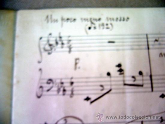 Partituras musicales: PARTITURA MANUSCRITO, AL PIE DE LA REJA, LUIS MARIANI, OP 33, CON ARREGLOS DE CARRILLO, 1898 - Foto 5 - 31240012