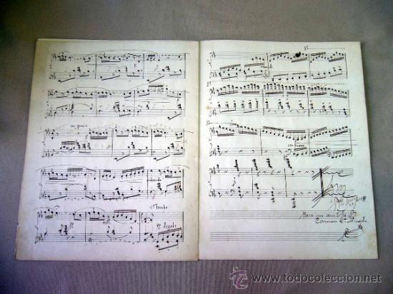Partituras musicales: PARTITURA MANUSCRITO, AL PIE DE LA REJA, LUIS MARIANI, OP 33, CON ARREGLOS DE CARRILLO, 1898 - Foto 6 - 31240012