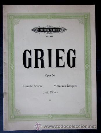 GRIEG - OPUS 54 (Música - Partituras Musicales Antiguas)