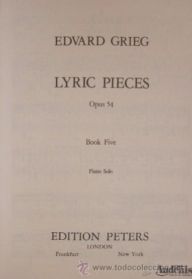 Partituras musicales: GRIEG - OPUS 54 - Foto 2 - 31154344