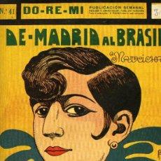 "Partituras musicales: PARTITURA DE LA MACHICHA ""DE MADRID AL BRASIL"", 1925.. Lote 31326834"