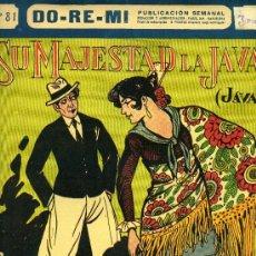 Partituras musicales: PARTITURA DE LA JAVA 'SU MAJESTAD LA JAVA'. 1927.. Lote 31347601