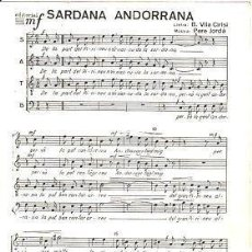 Partituras musicales: 28 PARTITURES 'SARDANA ANDORRANA' . VILA CIRISI /P, JORDÀ, 4 PGS. 4ª 1966. Lote 31406744