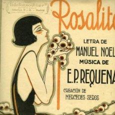 Partituras musicales: PARTITURA DEL FOX-TROT 'ROSALITO'. Lote 31531014