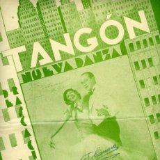 Partituras musicales: PARTITURA DE TANGÓN. NUEVA DANZA DE INSPIRACIÓN TANGUERA. EDITADO POR G. RICORDI, BUENOS AIRES, 1935. Lote 31541316