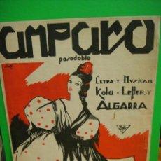 Partituras musicales: AMPARO PARTITURA DE PASODOBLE 1941. Lote 31742337