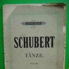 Partituras musicales: SCHUBERT - TANZE PARTITURA PARA PIANO . Lote 31744812