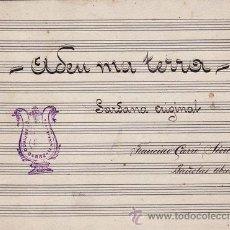Partituras musicales: MUSICA PARTITURA MANUSCRITA
