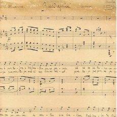Partituras musicales: MUSICA.PARTITURA MANUSCRITA DE A. PLANÁS. BALDUFETA.C1900. Lote 31769678