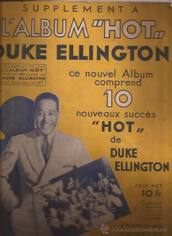 LIBRO PARTITURAS-DUKE ELLINGTON JAZZ HOT-FRANCIA-AÑOS 50 (Música - Partituras Musicales Antiguas)