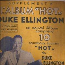 Partituras musicales: LIBRO PARTITURAS-DUKE ELLINGTON JAZZ HOT-FRANCIA-AÑOS 50. Lote 31769698