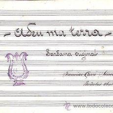 Partituras musicales: PARTITURA MANUSCRITA DE LA SARDANA (BAIX)