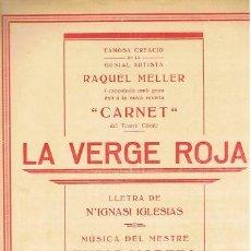 Partituras musicales: PARTITURA AUTOGRAFIADA D'ENRIC MORERA. VERGE ROJA.C1920. Lote 31919261