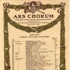 Partituras musicales: 3 PARTITURAS DISTINTAS DE MAS SERRACANT.ARS CHORUM.CANÇONS POPULARS CATALANES.. Lote 31942390