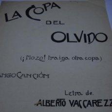 Partiture musicali: PARTITURA. ENRIQUE DELFINO (DELFY): LA COPA DEL OLVIDO (¡MOZO! TRAIGA OTRA COPA). 2 HOJAS.. Lote 32054294