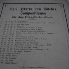 Partituras musicales: PARTITURA PARA PIANOFORTE. C. M. VON WEBER: ALLEMANDES. OP. 4. 7 PAGS.. Lote 32067509