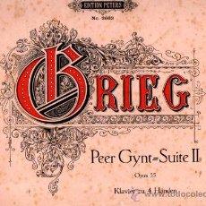 Partituras musicales: ZWEITE ORCHESTERSUITE, ADVARD GRIEG, KOMPONISTEN, LEIPZIG, C.F. PETERS. Lote 32235490