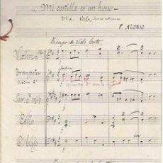 Partituras musicales: MUSICA.PARTITURA MANUSCRITA.MI COSTILLA.C1920.PAGS.6. AUTOR MUSICA : F ALONSO . Lote 32545891