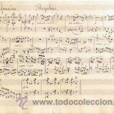 Partituras musicales: MUSICA.PARTITURA MANUSCRITA.L'AFRICAINE.C1920.PAGS. 4. AUTOR MUSICA : MEYERBEER . Lote 32546371