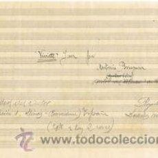 Partituras musicales: MUSICA.PARTITURA AUTOGRAFIADA.VIVIETTE.C.1920.PAGS. 6.AUTOR MUSICA : ANTONIO BRUGUERA (LLINÁS DEL VA. Lote 32559004