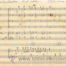 Partituras musicales: MUSICA.PARTITURA MANUSCRITA.LAS LEANDRAS.Nº5.C. 1920.PAGS. 9. AUTOR MUSICA : F ALONSO . Lote 32559168