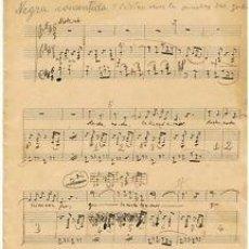 Partituras musicales: MUSICA.PARTITURA MANUSCRITA.NEGRA.C. 1920.PAGS. 3. Lote 32571012