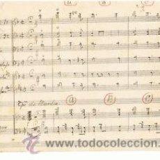 Partituras musicales: MUSICA.PARTITURA MANUSCRITA.MI COSTILLA Nº 5BIS.C,1920.PAGS. 12. AUTOR MUSICA : F ALONSO. Lote 32571239
