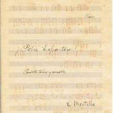 Partituras musicales: MUSICA.PARTITURA AUTOGRAFIADA.POBRE ESPARTERO (PASODOBLE TORERO.1932.PAGS.9.AUTOR MUSICA:C. MONTILLA. Lote 32572109