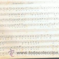 Partituras musicales: MUSICA.PARTITURA MANUSCRITA.VENERABILIS BARBA.C.1920.PAGS.4.AUTOR MUSICA : MOZART . Lote 32572280
