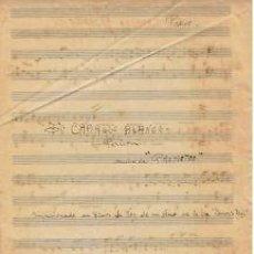 Partituras musicales: MUSICA.PARTITURA AUTOGRAFIADA.CABALLO BLANCO (MUSICA DE PROMETEO).C1920.PG.7.AUTOR MUSICA : PERICON . Lote 32579146