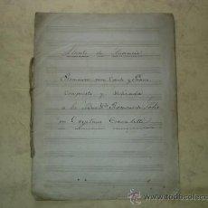 Partituras musicales: LLANTO DE AUSENCIA - ROMANZA PARA CANTO Y PIANO COMPUSO CAYETANO BAVALETTI - MANUSCRITO ORIGINAL. Lote 32589797