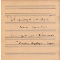 Partituras musicales: PARTITURA MANUSCRITA DE AMADEU ARGELAGA I PAGÉS . Lote 32740525