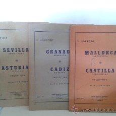Partituras musicales: UNION MUSICAL ESPAÑOLA-SEVILLA-GRANADA-ASTURIAS-CADIZ-MALLORCA-CASTILLA. Lote 32819906