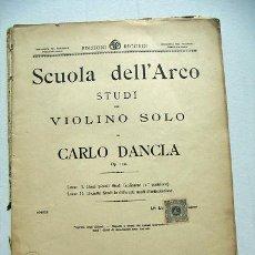 Partituras musicales: PARTITURAS PARA VIOLIN DE CARLO DANCLA. Lote 32849839