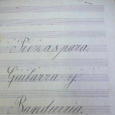 Partituras musicales - PIEZAS PARA GUITARRA Y BANDURRIA DE JOSÉ JOVER. MANUSCRITA. 1898. - 33087785