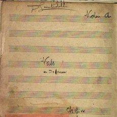 Partituras musicales: VALS EN DO # MENOR DE CHOPIN ARREGLO PARA ORQUESTA. Lote 32995036