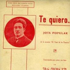Partituras musicales: PARTITURA MIGUEL FLETA -JOTA . Lote 33067797