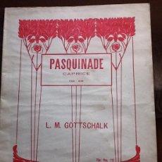 Partituras musicales: PARTITURA PIANO AÑO 1920. Lote 33133001