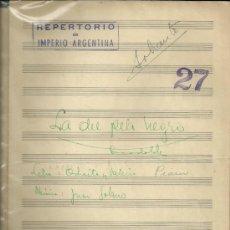 Partituras musicales: PARTITURA MANUSCRITA ORIGINAL DEL REPERTORIO DE IMPERIO ARGENTINA... . Lote 33351292