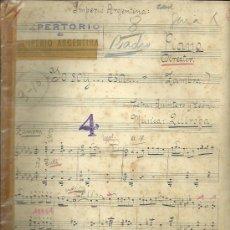 Partituras musicales: PARTITURA MANUSCRITA ORIGINAL DEL REPERTORIO DE IMPERIO ARGENTINA... . Lote 33351333