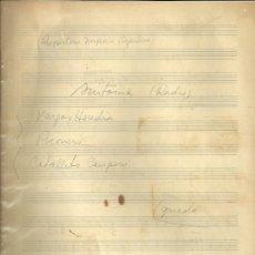 Partituras musicales: PARTITURA MANUSCRITA ORIGINAL DEL REPERTORIO DE IMPERIO ARGENTINA... . Lote 33351392