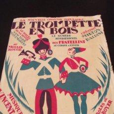Partituras musicales: PARTITURA FRANCESA LE TROMPETTE EN BOIS DE VINCENT SCOTTO AÑO 1924. Lote 33431606