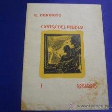 Partituras musicales: CANTOS DEL PUEBLO. R.BENEDITO.1938.VIGO. Lote 33492389