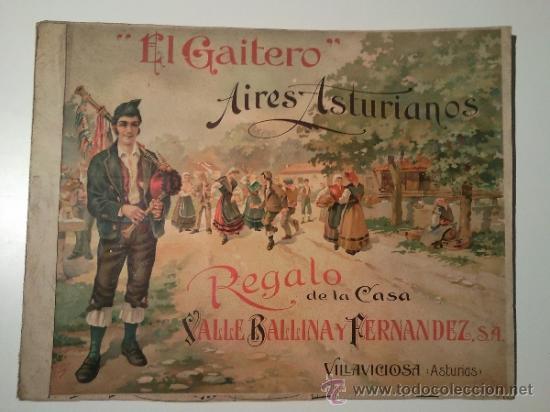 AIRES ASTURIANOS EL GAITERO (Música - Partituras Musicales Antiguas)