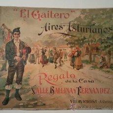 Partituras musicales: AIRES ASTURIANOS EL GAITERO. Lote 33625381