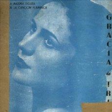 Partituras musicais: PARTITURA GRACIA DE TRIANA. LA NIÑA FEA. MONTORO Y SOLANO. Lote 34549669