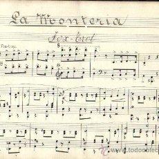 Partituras musicales: LA MONTERIA**FOX TROT**J. GUERRERO***PARTITURA MANUSCRITA. Lote 34980917