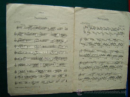 Partituras musicales: SERENADE - (SHUBERT) - FOR PIANOFORTE - VIOLIN & CELLO PARTS - PARTITURA MUSICAL - 1935 - Foto 2 - 35301153