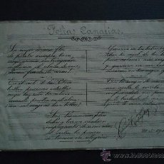 Partituras musicales: PARTITURA MANUSCRITA.'FOLIAS CANARIAS PARA CANTO Y PIANO' 1910. Lote 35345360